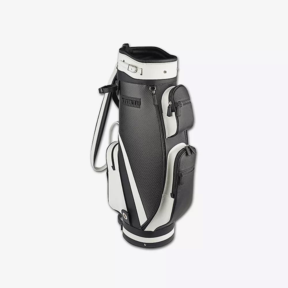 sacca da golf pelle vitello carbonio