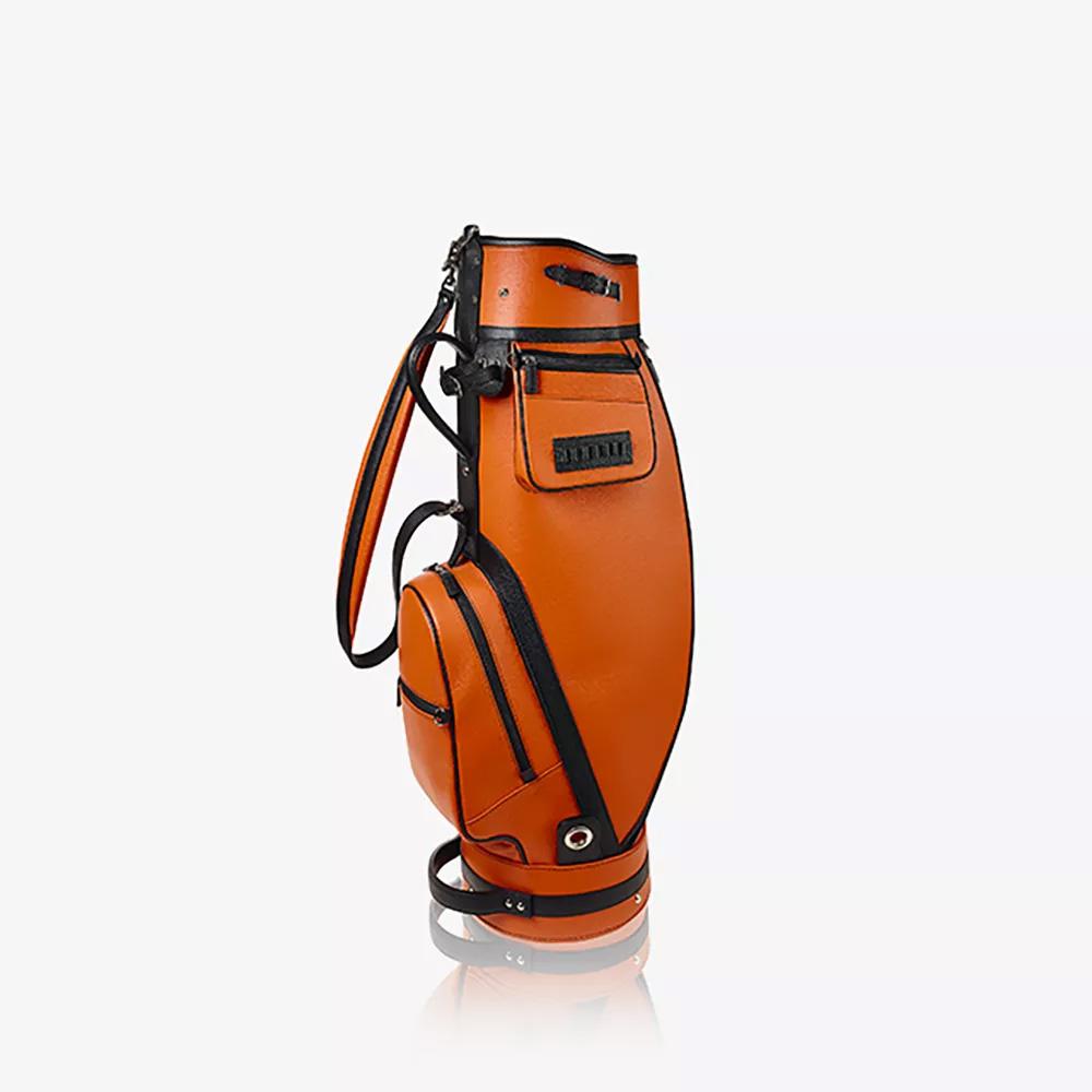 Sacca da golf in pelle di vitello granato 9,5″ ART. 2000